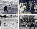 """Autographs:Photos, Vintage Baseball Stars Signed Photographs Lot of 4. Fine quartet of8x10"""" photos has each been signed by a former major lea..."""