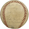 Autographs:Baseballs, 1940 Chicago White Sox Team Signed Baseball. Led by skipper JimmieDykes, the 1940 Chicago White Sox could finish no better...
