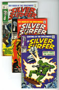 Silver Age (1956-1969):Superhero, The Silver Surfer #2, 3 and 5 Group (Marvel, 1968-69). The first appearance of Mephisto is among the highlights of this grou... (Total: 3 Comic Books)