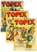 Golden Age (1938-1955):Religious, Topix Box Lot (Catechetical Guild, 1950-52) Condition: Average FN.Included in this half-full short box lot are V8#12, 13 (t...