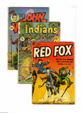 Golden Age (1938-1955):Western, Westerns Golden Age Group (Various, 1950-54). This group containsIndians #3 (GD/VG), John Wayne #25 (GD+), Red Fo... (Total: 4 ComicBooks)