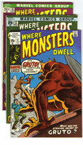 Silver Age (1956-1969):Horror, Where Monsters Dwell Group (Marvel, 1970-72) Condition: Average VF. This series featured reprints from great titles like T... (Total: 10 Comic Books)