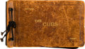 Baseball Collectibles:Others, 1930 Chicago Cubs Signed Photograph Album Belonging to Pitcher Sheriff Blake. ...