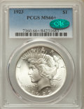 Peace Dollars: , 1923 $1 MS66+ PCGS. CAC. PCGS Population: (2350/69 and 204/0+). NGCCensus: (3207/107 and 73/0+). CDN: $340 Whsle. Bid for ...