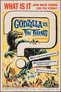 "Movie Posters:Science Fiction, Godzilla vs. the Thing (American International, 1964). Poster (40""X 60""). Science Fiction.. ..."