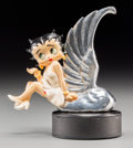 Decorative Arts, Continental:Other , A Chromed and Painted Betty Boop Automobile Mascot. 5-1/2 incheshigh (14.0 cm) (overall). Property from the Estate of Cha...