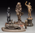 Decorative Arts, Continental:Other , Five Various Bronze and Mixed Media Sculptures, early 20th centuryand later. 11-5/8 inches high (29.5 cm) (tallest, includi...(Total: 5 Items)