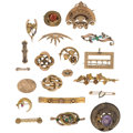 Estate Jewelry:Brooches - Pins, Victorian Multi-Stone, Seed Pearl, Enamel, Gold, Gold-Filled Brooches. ... (Total: 20 Items)
