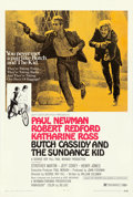"""Movie Posters:Western, Butch Cassidy and the Sundance Kid (20th Century Fox, 1969). One Sheet (27"""" X 41"""") Style B.. ..."""