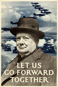 """World War II Propaganda (H.M. Stationary Office, Early 1940s). British Double Crown (20"""" X 30"""") """"Let Us G..."""