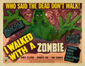 "Movie Posters:Horror, I Walked with a Zombie (RKO, 1943). Half Sheet (22"" X 28"") StyleB.. ..."