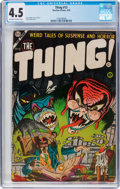 Golden Age (1938-1955):Horror, The Thing! #13 (Charlton, 1954) CGC VG+ 4.5 Off-white to whitepages....