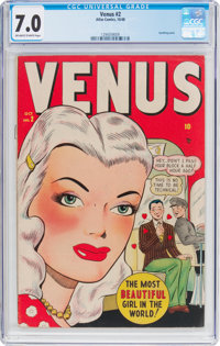 Venus #2 (Timely, 1948) CGC FN/VF 7.0 Off-white to white pages