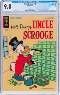 Uncle Scrooge #42 (Gold Key, 1963) CGC NM/MT 9.8 Off-white to white pages