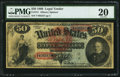 Large Size:Legal Tender Notes, Fr. 151 $50 1869 Legal Tender PMG Very Fine 20.. ...
