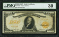 Large Size:Gold Certificates, Fr. 1219e $1,000 1907 Gold Certificate PMG Very Fine 30.. ...