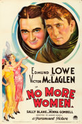 "Movie Posters:Drama, No More Women (Paramount, 1934). One Sheet (27"" X 41"").. ..."