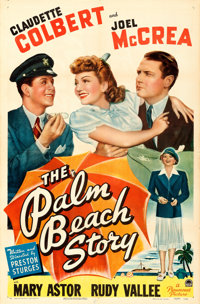 "The Palm Beach Story (Paramount, 1942). One Sheet (27"" X 41"")"