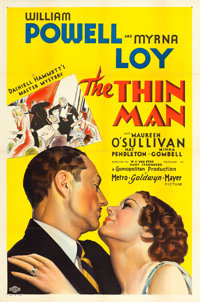 "The Thin Man (MGM, 1934). One Sheet (27"" X 41"") Style D"