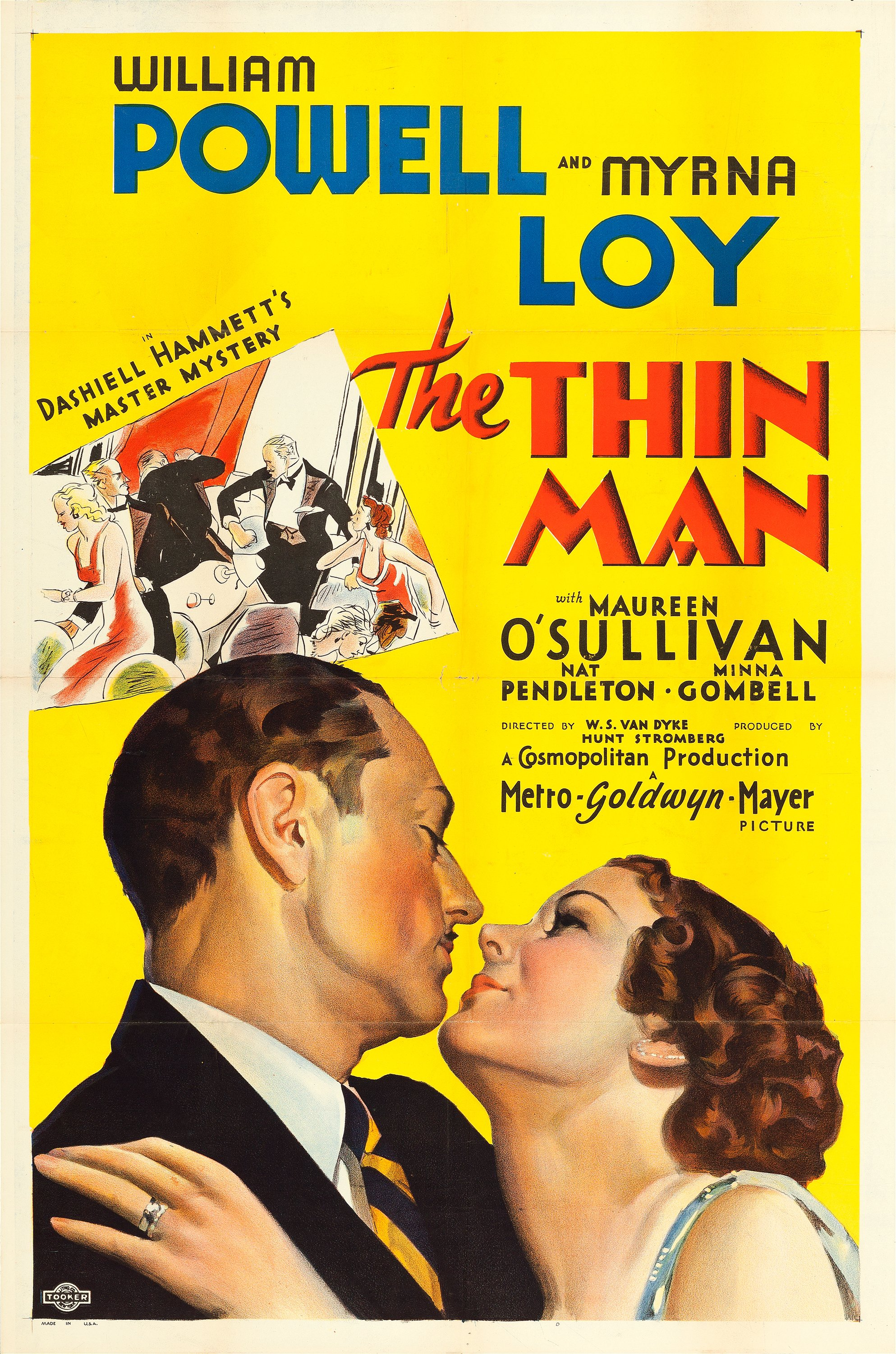 """The Thin Man (MGM, 1934). One Sheet (27"""" X 41"""") Style D.. ... Movie 