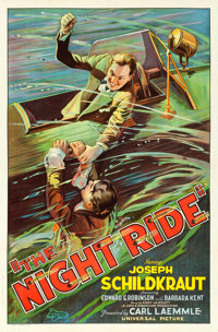 "The Night Ride (Universal, 1930). One Sheet (27"" X 41"")"