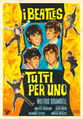"Movie Posters:Rock and Roll, A Hard Day's Night (United Artists, 1964). Italian 4 - Fogli (55"" X77"").. ..."
