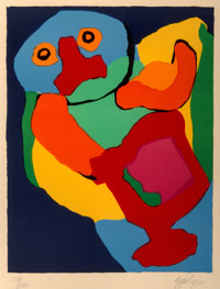 Karel Appel (1921-2006) Dancing Man, 1970 Lithograph in colors 28-1/4 x 21-3/8 inches (71.8 x 54