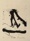 Prints:Contemporary, Robert Motherwell (1915-1991). Untitled, 1966. Lithograph.18-1/2 x 12-3/4 inches (46.99 x 23.39 cm) (image). 27 x 22 in...