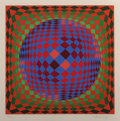 Prints:Contemporary, Victor Vasarely (1906-1997). Untitled (Sphere), circa 1970s.Screenprint in colors. 15-5/8 x 15-5/8 inches (39.7 x 39.7 ...