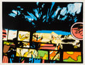 Prints:Contemporary, John Hultberg (1922-2005). Fragments of a Dream, 1977.Screenprint in colors. 24 x 32-3/4 inches (60.96 x 83.19 cm)(ima...