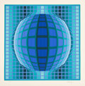 Prints:Contemporary, Victor Vasarely (1906-1997). Detvoe, 1990. Screenprint incolors. 26-1/2 inches (67.3 cm) (image). Ed. 48/300. Signed an...