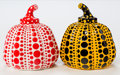 Post-War & Contemporary:Sculpture, Yayoi Kusama (b. 1929). Red and Yellow Pumpkin (two works),2013. Painted cast resin. 4 x 3-1/4 x 3-1/4 inches (10.2 x 8...(Total: 2 Items)