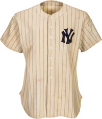 1937 Lou Gehrig Game Worn New York Yankees Jersey -- Photo Matched!