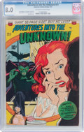 Golden Age (1938-1955):Horror, Adventures Into The Unknown #21 (ACG, 1951) CGC VF 8.0 Off-white towhite pages....