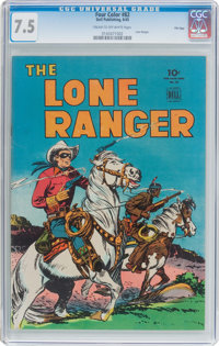Four Color #82 Lone Ranger - File Copy (Dell, 1945) CGC VF- 7.5 Cream to off-white pages