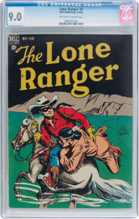 Lone Ranger #3 (Dell, 1948) CGC VF/NM 9.0 Off-white to white pages