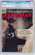 Silver Age (1956-1969):Adventure, Four Color #882 Zorro (Dell, 1958) CGC NM 9.4 Cream to off-white pages....