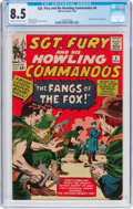 Silver Age (1956-1969):War, Sgt. Fury and His Howling Commandos #6 (Marvel, 1964) CGC VF+ 8.5 Cream to off-white pages....