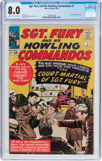 Sgt. Fury and His Howling Commandos #7 (Marvel, 1964) CGC VF 8.0 Cream to off-white pages