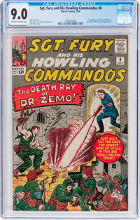 Sgt. Fury and His Howling Commandos #8 (Marvel, 1964) CGC VF/NM 9.0 Off-white to white pages