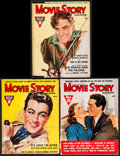 """Movie Posters:Miscellaneous, Movie Story Magazine (Fawcett Publications, 1937/1939). Magazines (3) (Multiple Pages, 8.5"""" X 11.25""""). Miscellaneous.. ... (Total: 3 Items)"""