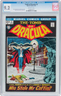 Bronze Age (1970-1979):Horror, Tomb of Dracula #2 (Marvel, 1972) CGC NM- 9.2 Off-white pages....