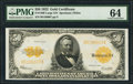 Large Size:Gold Certificates, Fr. 1200 $50 1922 Gold Certificate PMG Choice Uncirculated 64.. ...