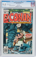 Bronze Age (1970-1979):Adventure, Conan the Barbarian #77 35¢ Price Variant (Marvel, 1977) CGC VF/NM 9.0 White pages....