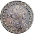Early Dimes, 1796 10C JR-6, R.3 -- Repaired -- PCGS Genuine. VF Details....