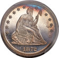 Proof Seated Quarters, 1872 25C PR67 Cameo PCGS. CAC. Briggs 3-C....