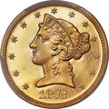 Proof Liberty Half Eagles, 1877 $5 PR65 Cameo PCGS Secure....