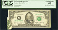 Error Notes:Foldovers, Fr. 2122-J $50 1985 Federal Reserve Note. PCGS Extremely Fine 40.....