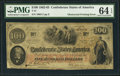 Confederate Notes:1862 Issues, Obstructed Printing Error T41 $100 1862 PF-20 Cr. 316A.. ...