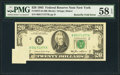 Error Notes:Foldovers, Fr. 2075-B $20 1985 Federal Reserve Note. PMG Choice About Unc 58 EPQ.. ...